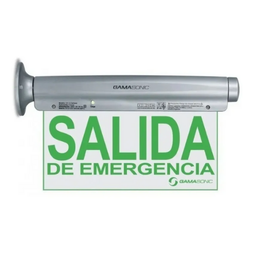 CARTEL SALIDA DE EMERGENCIA GAMASONIC